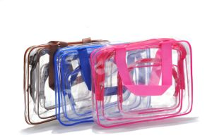 3PCS Set Transparent PVC Makeup Set Bag, Clear PVC Travel Cosmetic Bag pictures & photos