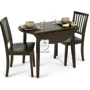 Solid Oak Folding Table Sets for Restaurant pictures & photos