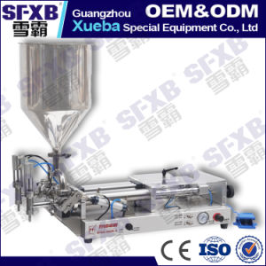 Sfgg-120-2 Full Pneumatic Double Head Semi Automatic Paste Filling Machine pictures & photos