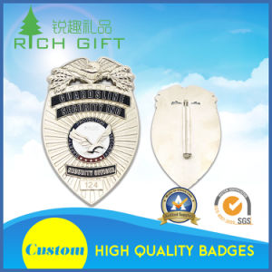 OEM Manufacturer Custom Badges with Sandblasted/ Erosion on Both Sides pictures & photos