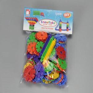 118 PCS DIY Educational Building Block Toys Children Plastic Snowflake Toys pictures & photos