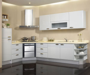 Modern Cream Gloss Kitchen Furniture Cabinets pictures & photos
