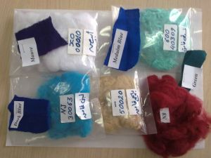 Hanbang Polyester Staple Fiber 15D Hcs Semi Virgin Grade Super Color U pictures & photos