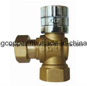 Brass Angle Lockable Ball Valve pictures & photos