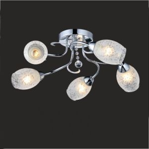 Glass Chandelier Bedroom Ceiling Lamp Gx-6055-5 pictures & photos
