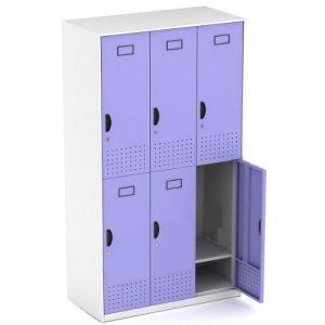 Six Doors Kd Steel Structure Metal Storage Locker pictures & photos