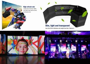 Light Foldable LED Curtain Display for Rental pictures & photos