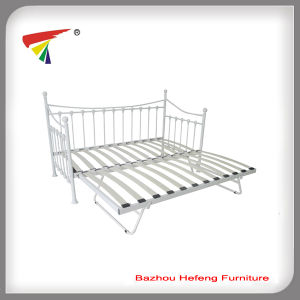 Metal Bed Furniture Wooden Slats Folding Futon Day Bed pictures & photos