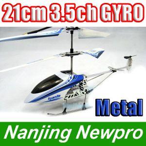 New Model 21cm Mini Metal 3.5 CH RC Helicopter R/C Toy Airplane Radio Control Plane W/ Gyro+Charging USB+Flashlight (NHPL-4971 A)