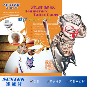 Temporary Tattoo Transfer Printing Paper for Water Decals Papel pictures & photos