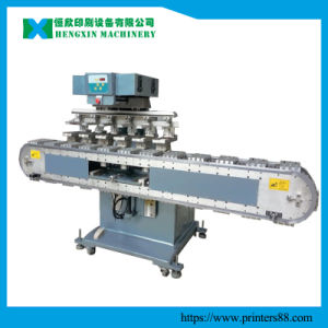 Six Color Pad Priner with Tank Conveyor pictures & photos