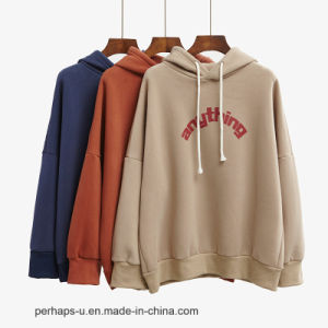 New High Quality Women Hoodies with Cap Long - Sleeved Sweater pictures & photos