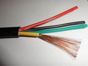 Copper Conductor Rvv 4-Core PVC Insulated PVC Sheathed Flexible Wire pictures & photos