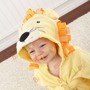 Kids Bathrobes Wholesale 100% Cotton Animal Pattern
