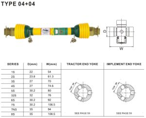 Pto Shaft 04+04 for Agriculture Machinery pictures & photos