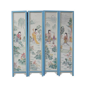 Chinese Antique Wood Blue Screen pictures & photos