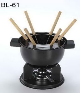 Fondue Sets with One Enamel Pot (BL-61)