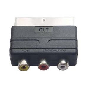 Nickel-Plated Connector Scart Plug to 3RCA Jack Scart Adaptor Scart Adapter pictures & photos