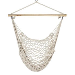 Cotton Rope Hammock Cradle Chair with Hardwood Spread Bar. pictures & photos