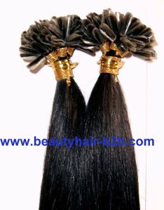 Black Italian Keratin U-Tip Hair pictures & photos