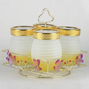 4PCS Frosted&Hand Painting Storage Jar Set (SG1579SJ) pictures & photos