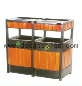 Wooden Outdoor Sortable Dustbin (DL35) pictures & photos