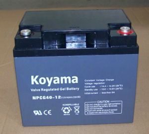 Deep Cycle Gel Battery for Solar Power System -Npcg40-12-12V40ah pictures & photos