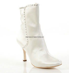 Beautiful Wedding Shoes Bridal Heel Boot Ankle Boots