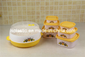 Plastic Microwave Steam Box with Food Containers (LS-2012-2)