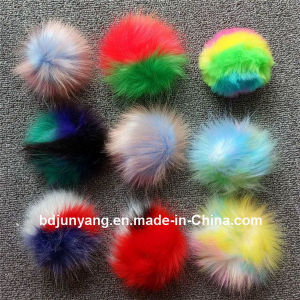 Dyed Real Raccoon Fur POM POM Multi Colors Fur Pompom pictures & photos