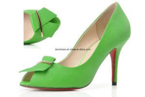 Bright Green Women Shoes Low Heel Shoes in Green