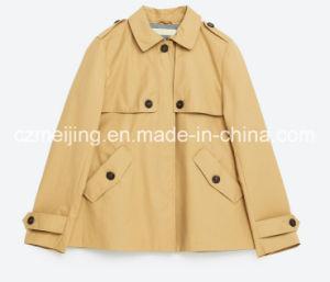 Cotton Woman′s Short Dustcoat