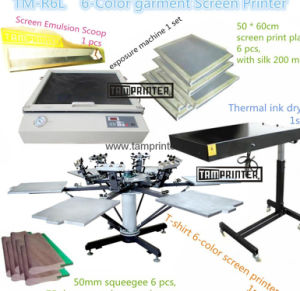 DIY Kit L920*W920*H830mm 6-Color Textile Silk Screen Printer pictures & photos