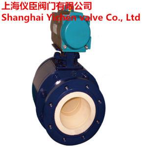 Pneumatic Actuator Flange Type Ceramic Ball Valve pictures & photos