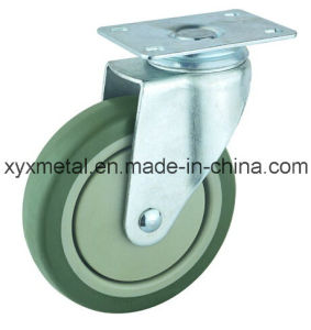 Medium Duty Caster Rotating Caster. Double Bearing PVC Materials with Plastic Dust Cover Mute Design. Meduim Duty Caster pictures & photos