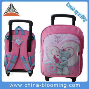 Cartoon Girls School Student Wheeled Backpack Trolley Bag pictures & photos