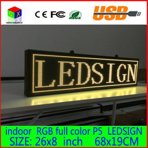 680X190mm Programmable LED Scrolling Message Display Sign LED Panel Indoor Full Color Board pictures & photos