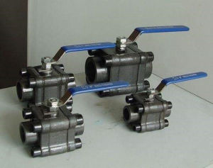 ANSI Standard High Pressure Three Piece Forged Steel Ball Valve pictures & photos