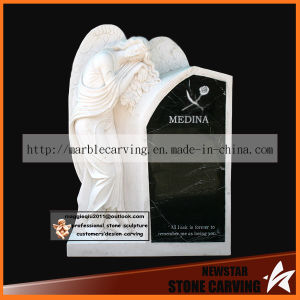 Beautiful Angel Memorial Momument Headstone for Grave Yard pictures & photos
