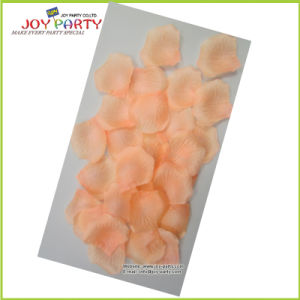 Most Popular Peach Color Polyester Rose Petals pictures & photos