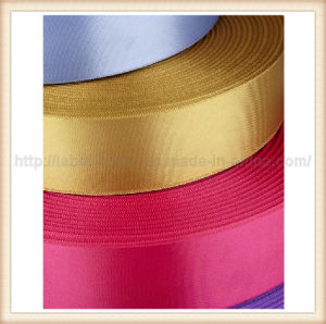 Colorful Single Face or Double Face Woven Edge Polyester Satin Ribbon (PS400) pictures & photos