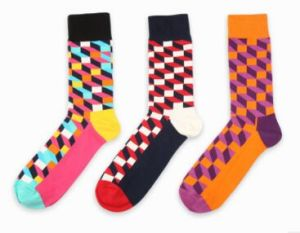Custom Fashion Cotton Jacquard Sock pictures & photos