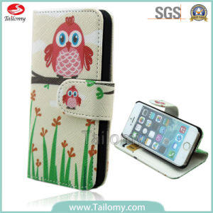 Fashion Wholesale Owl Filp/Wallet Phone Case for iPhone 6
