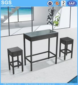 Bar Furniture PE Rattan Stools and Table pictures & photos