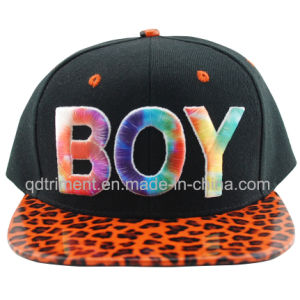 Flat Bill Sublimation Print Embroidery Snap Back Baseball Cap (TMFL0571-1) pictures & photos