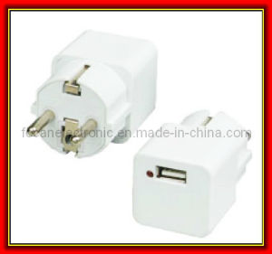 USB Schuko Wall Charger for Germany, France, Europe, Russia & More pictures & photos