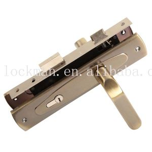 Competitive Aluminum Iron Plate Door Handle Lock (DL-001) pictures & photos