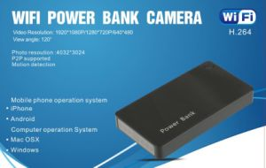 HD WiFi Cameras HID in Power Bank Wireless Security Home Office Monitor pictures & photos