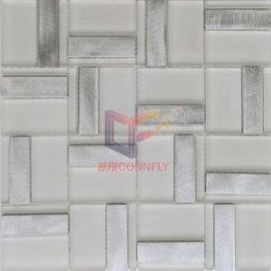 Super White Matt Face Glass Mix Silver Aluminium Mosaic (CFA101) pictures & photos