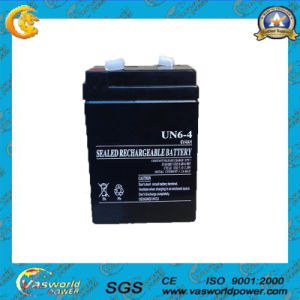 Rechargeable 6V 4ah AGM Battery for Emergency Power System pictures & photos